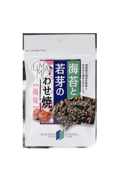 Snacks de algas wakame e nori com sabor ameixa 6g