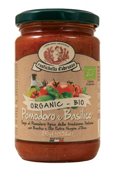 Molho Biológico para Massa de Tomate e Basilico  270g