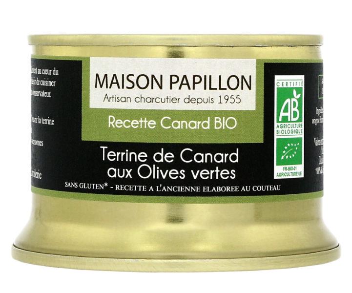 Terrina de Pato com azeitonas verdes 130g biológico
