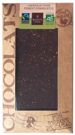 Chocolate negro pimenta espelta 100g biológico