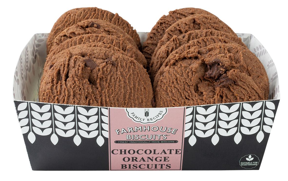 Biscoitos de chocolate e laranja 200g