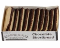 Biscoitos de chocolate shortbread 150g