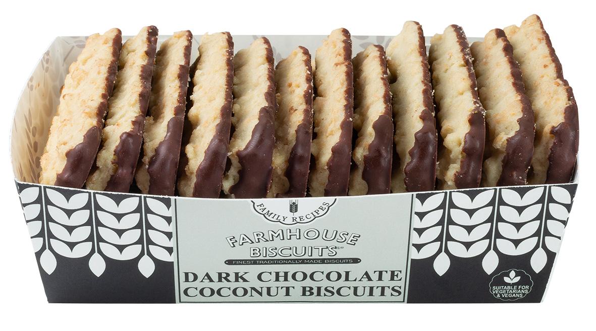 Biscoitos de coco e chocolate negro 150g
