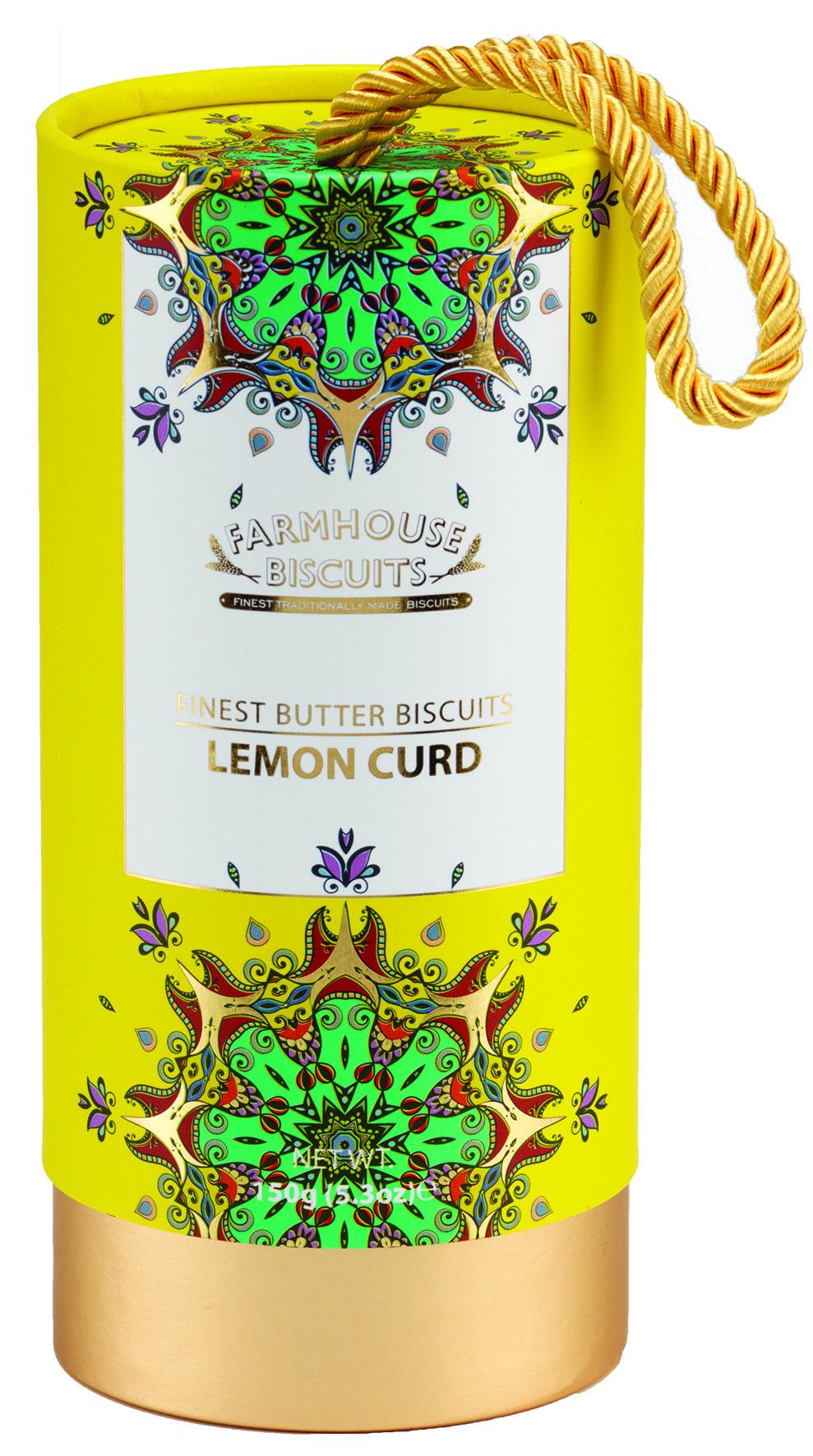Tubo kensington - Bolachas com lemon curd 150g