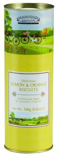 Tubo Primavera Verão - Bolachas de limão e laranja 150g