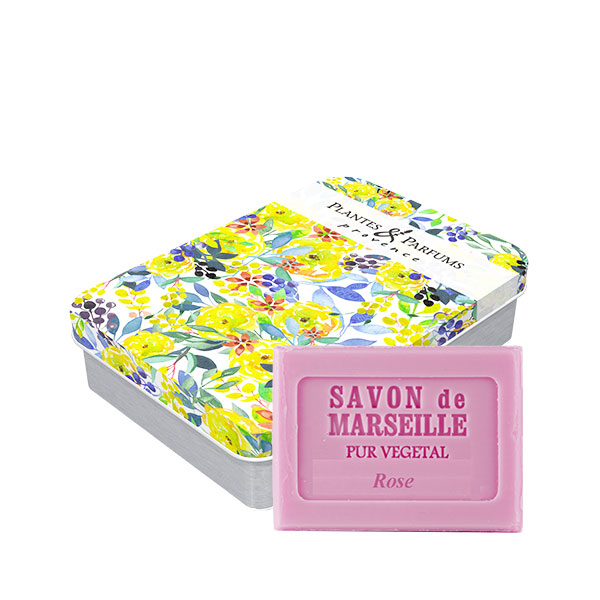 Sabonete de rosa 100g lata Bouquet floral