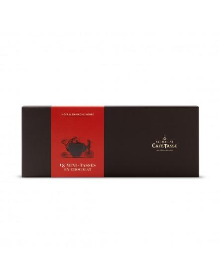 Caixa cartão 18 mini chávenas chocolate negro ganache 198g