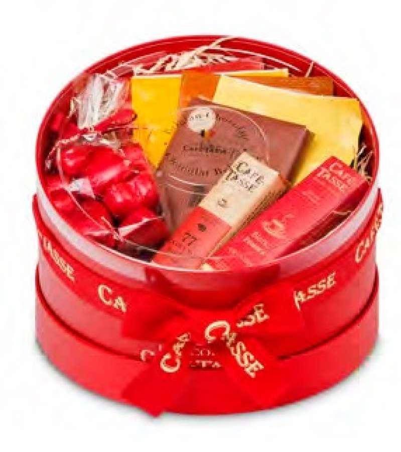 Caixa redonda vermelha 372g