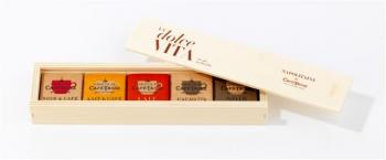 Caixa de madeira doce vida - napolitanos 75g