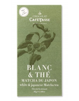 Chocolate branco com chá matcha 85g