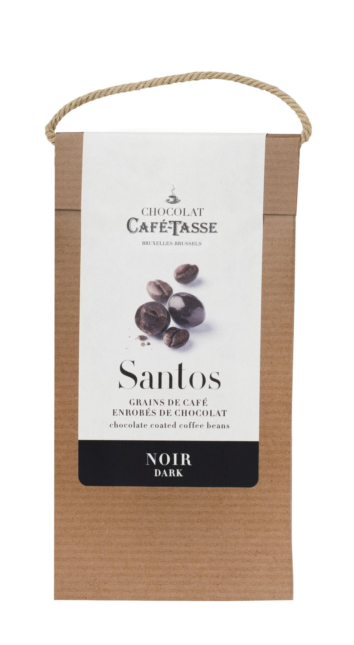 Grãos de café com chocolate negro 125g