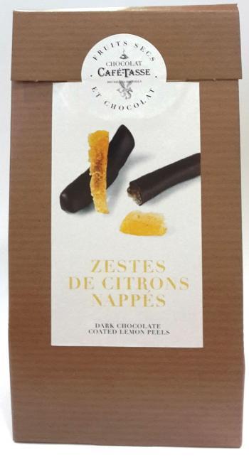 Farripas de limão cobertas com chocolate negro 125g