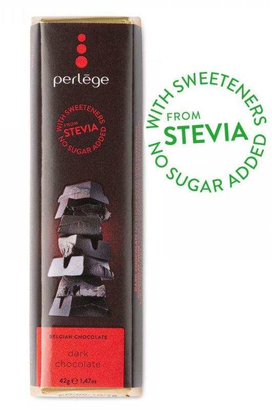 Tablete de chocolate negro sem açúcar (stévia) 42g
