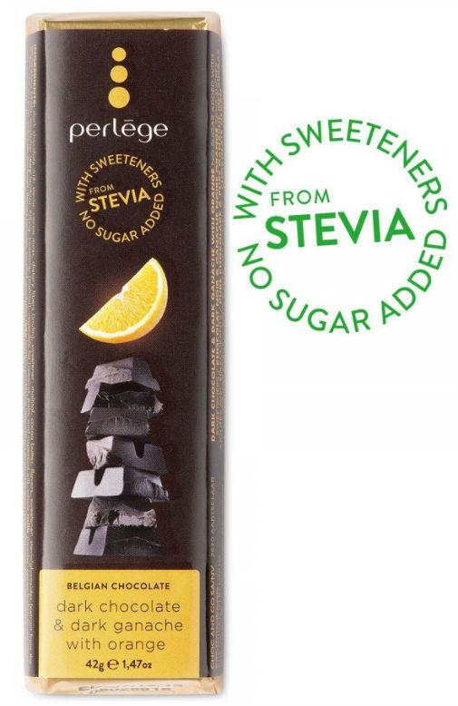 Tablete Chocolate negro com ganache laranja sem açúcar (stévia) 42g