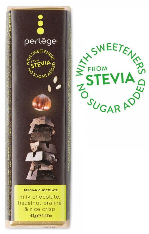 Tablete chocolate de leite praline com arroz sem açúcar (stévia) 42g