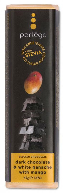 Tablete chocolate negro com ganache manga sem açúcar (stévia) 42g