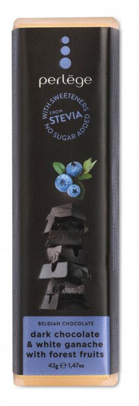 Tablete chocolate negro ganache frutos bosque sem açúcar (stévia) 42g