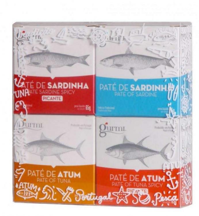 Conjunto de patés de peixe 4 x 65g