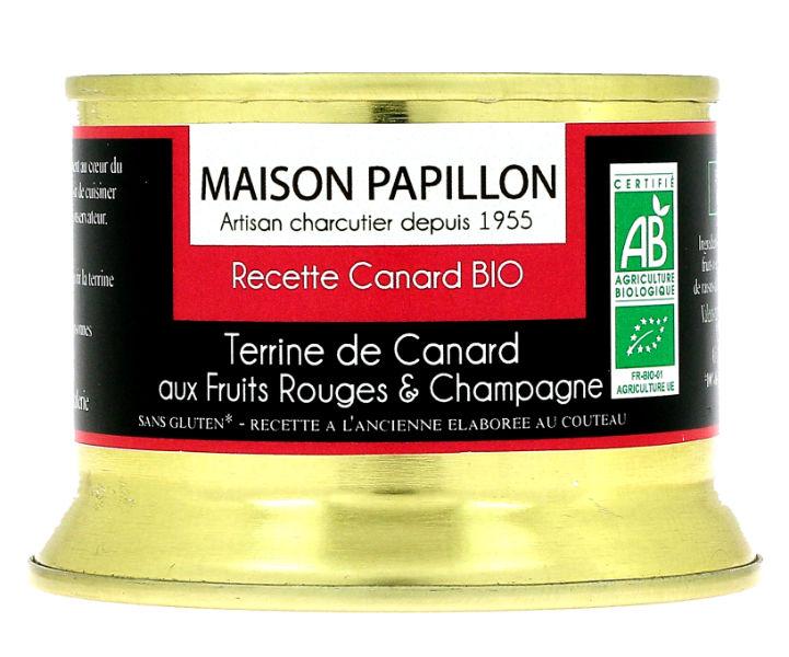 Terrina de pato com frutos vermelhos e champagne 130g biológicos