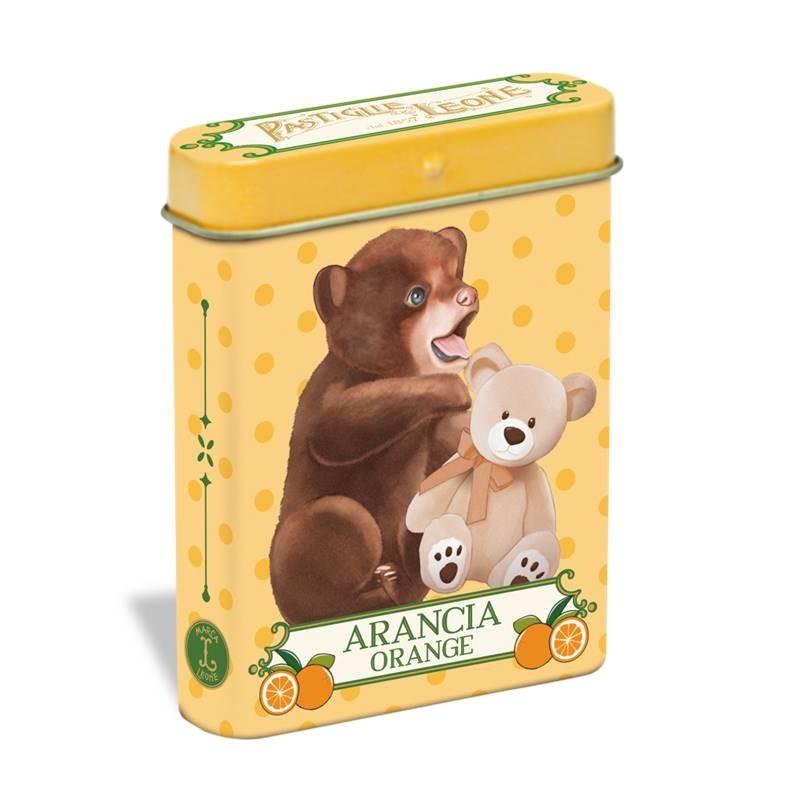 Pastilhas de laranja 15g - Lata urso