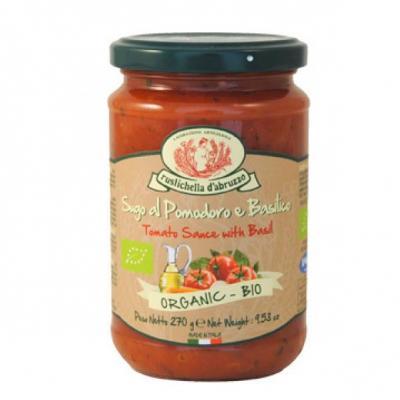 Molho para Massa de Tomate e Basilico Biológico 270g