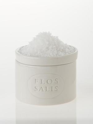 Saleiro em cerâmica com flor de sal 100g