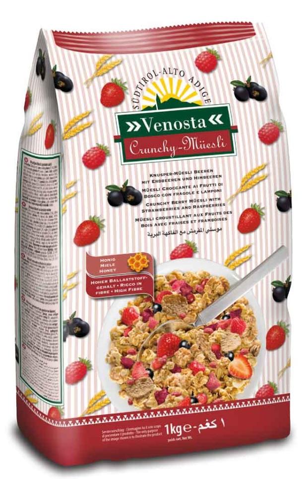 Granola com frutos vermelhos 1kg