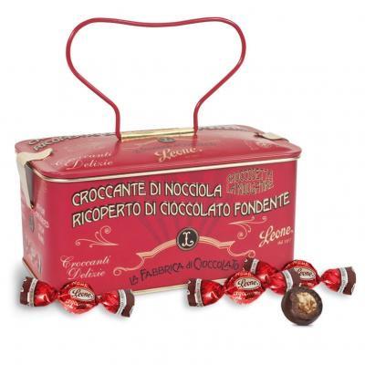 Lata vintage caramelo com chocolate 150g