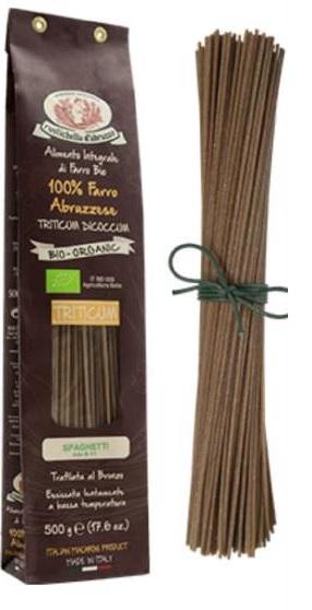 Spaghetti de farro integral biológico 500g