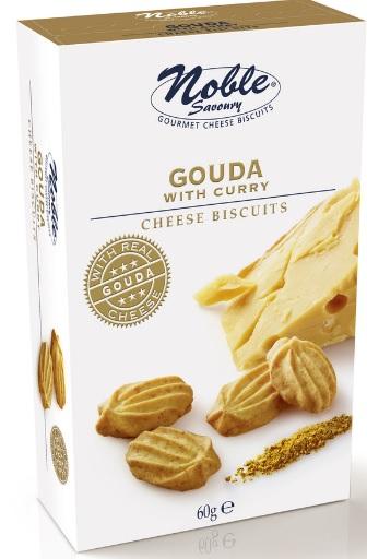 Biscoitos de queijo gouda com caril 60g