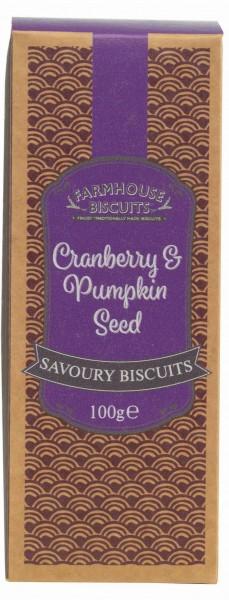 Savoury cracker de arando e sementes de abóbora 100g
