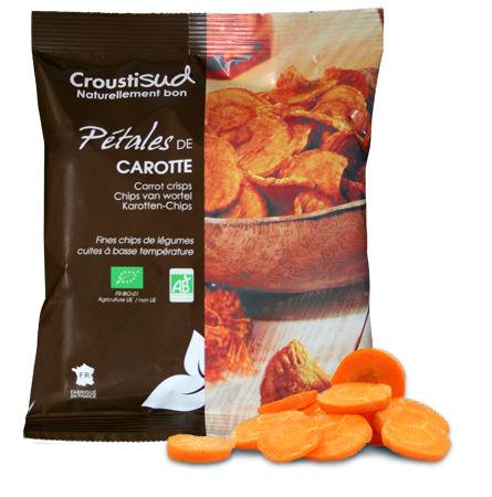 Chips de cenoura biológica 70g