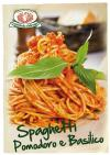 Spaghetti with Tomato Sauce and Basilico